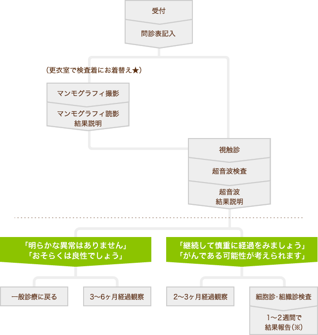 診療の流れ図